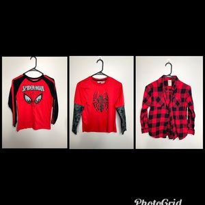 Marvel Spider-Man Shirts & Flannel Red/Black